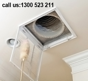 Ceiling Air Duct Cleaning Round Corner