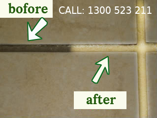 Before After Tile and Grout Cleaning in Scotland Island
