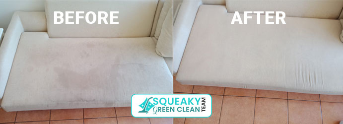 Upholstery Cleaning Before and After Cook